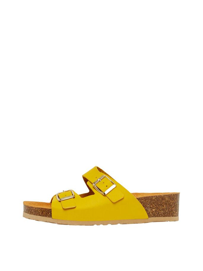 BIABETTY BUCKLE SANDALS, Yellow, large
