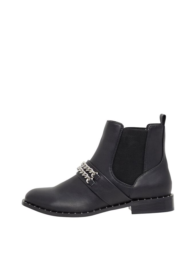 BIAELLA CHAIN CHELSEA BOOTS, Silver, large