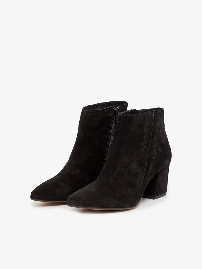 SIDE ZIP ANKLE BOOTS, Black1, large