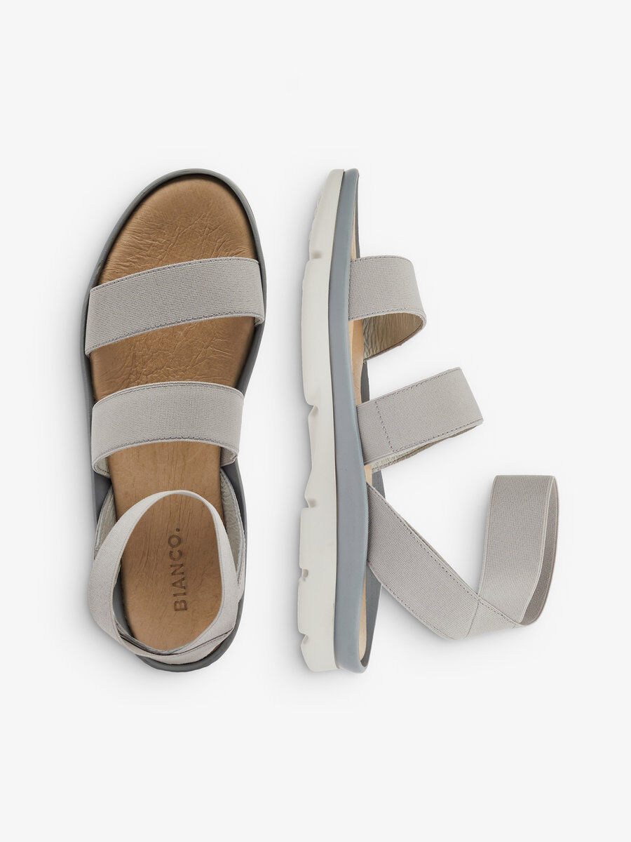 Bianco FLEXY STRIPE - Sandals - grey pSiDDSEB