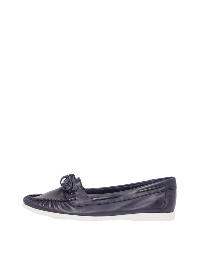 BIADANYA LEATHER LOAFERS, NavyBlue, large