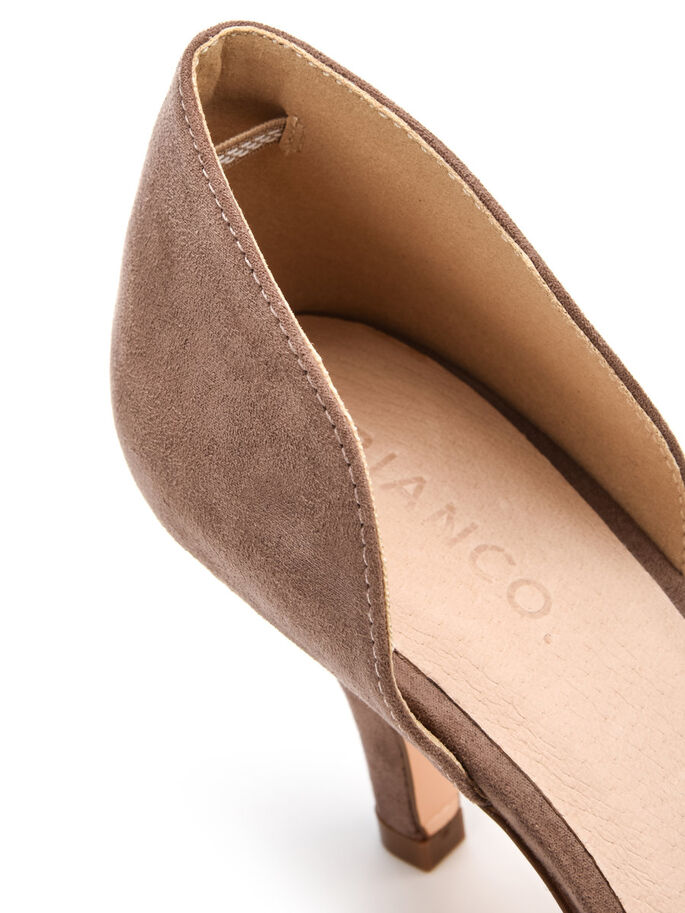 PEEPTOE PUMPS, Nougat, large