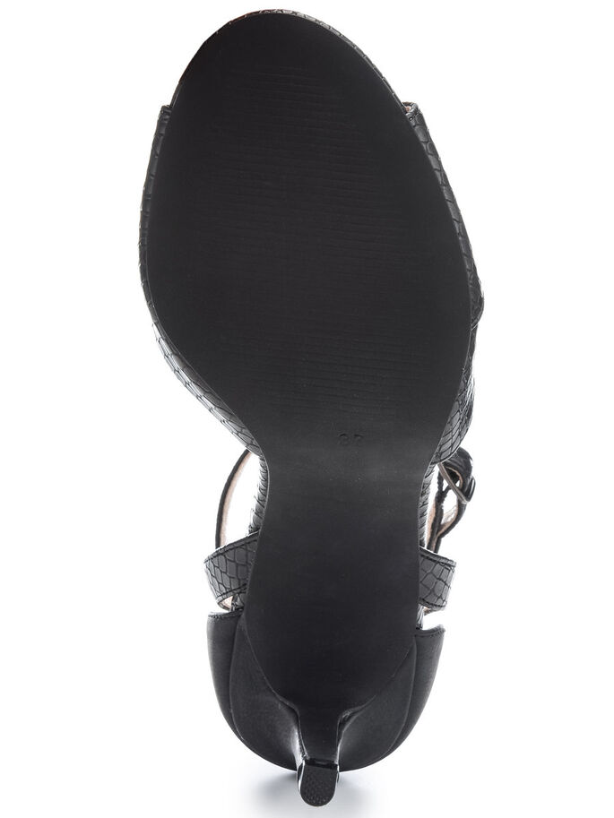 STILETTO SANDALS, Black, large