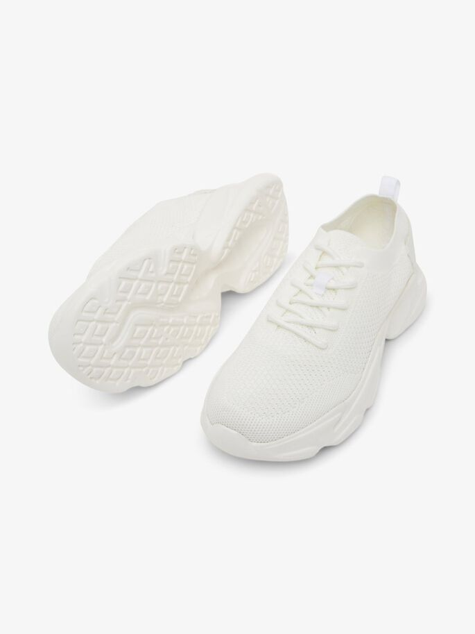 BIACASE LACED STRIKKEDE SNEAKERS, White4, large