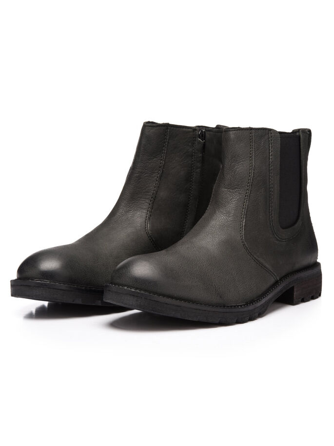 RAW CHELSEA BOOTS, Black, large
