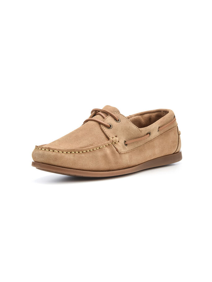 MEN'S SUEDE BOAT SHOES, Sand, large