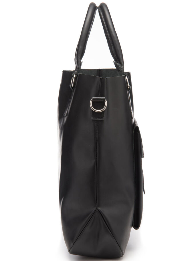 POCHE CUIR SAC, Black, large