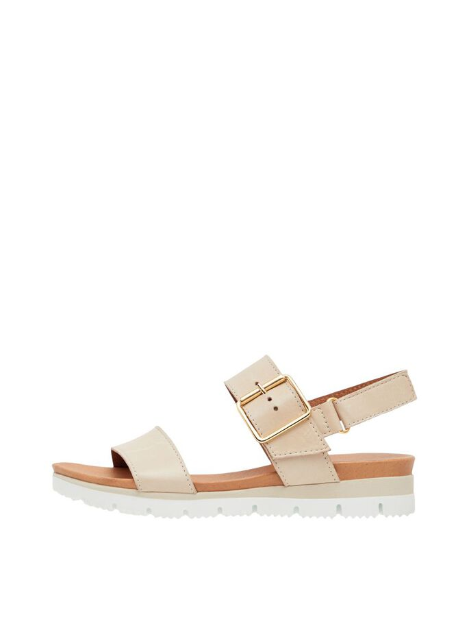 BIADEBRA BUCKLE SANDALS, Natural, large