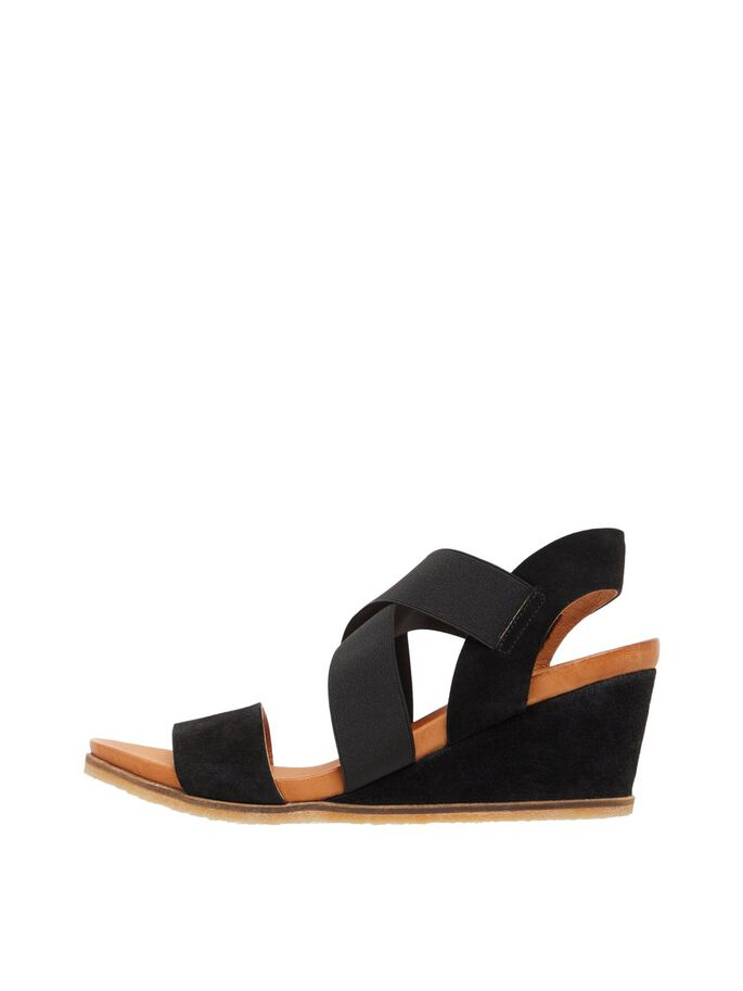BIACAILY LEATHER CROSS SANDALS, Black1, large