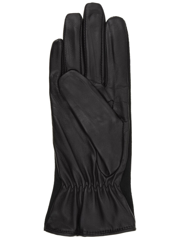 LEDER/WILDLEDER- HANDSCHUHE, Black, large