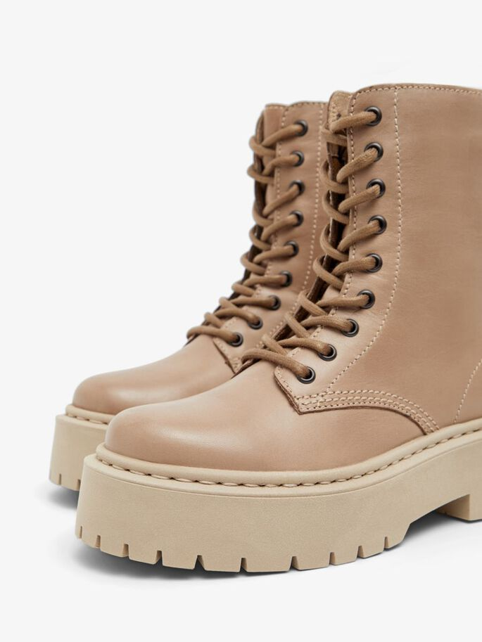 BIADEB LACE-UP BOOTS, LightBrown, large
