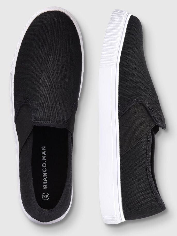 MEN'S SLIP-ONS, Black, large
