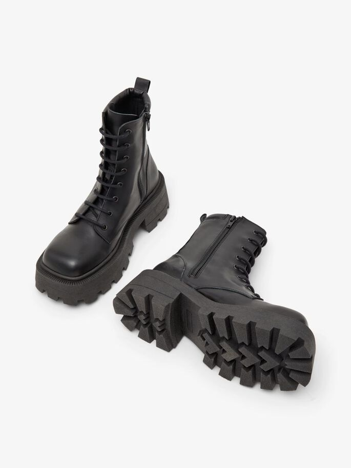 BIADESSIE LACE-UP BOOTS, Black, large