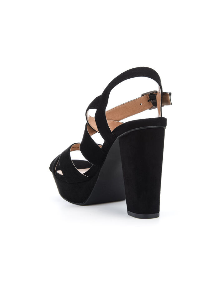STRAP CHUNKY SANDALS, Black, large