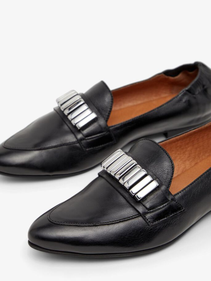 BIADUSTY LOAFERS, Black, large
