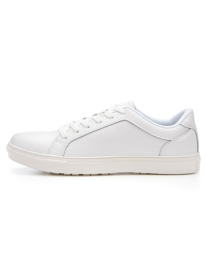 MEN'S LEATHER SNEAKERS, White, large