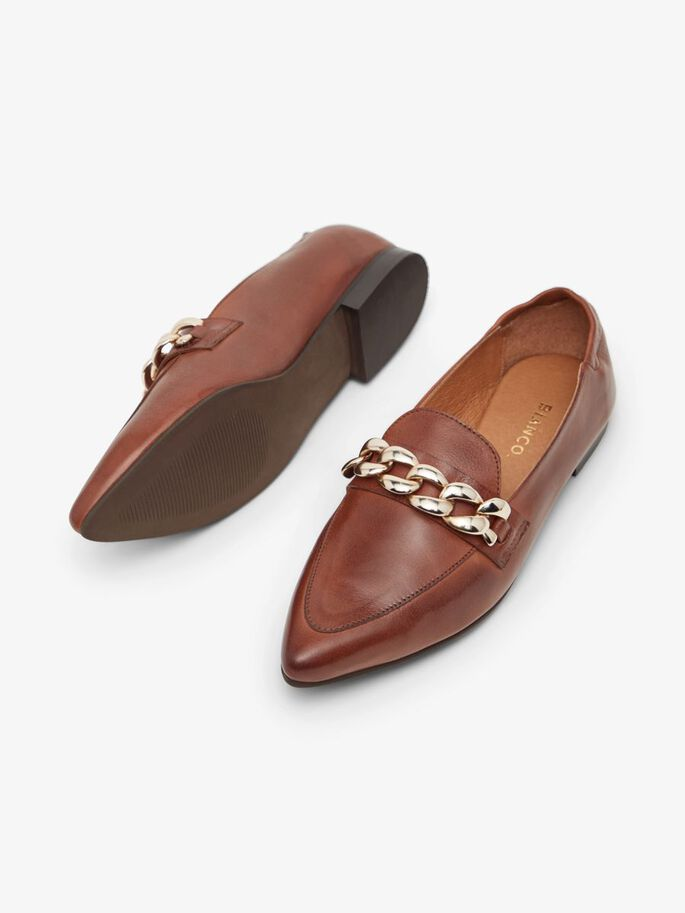 BIATRACEY LEATHER LOAFERS, Cognac, large