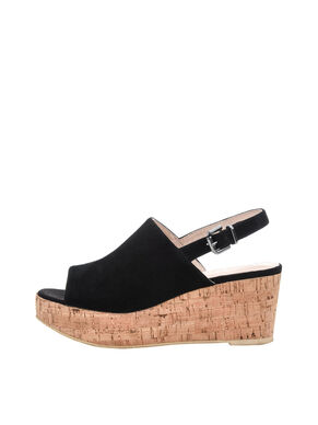 SUEDE WEDGE SHOES