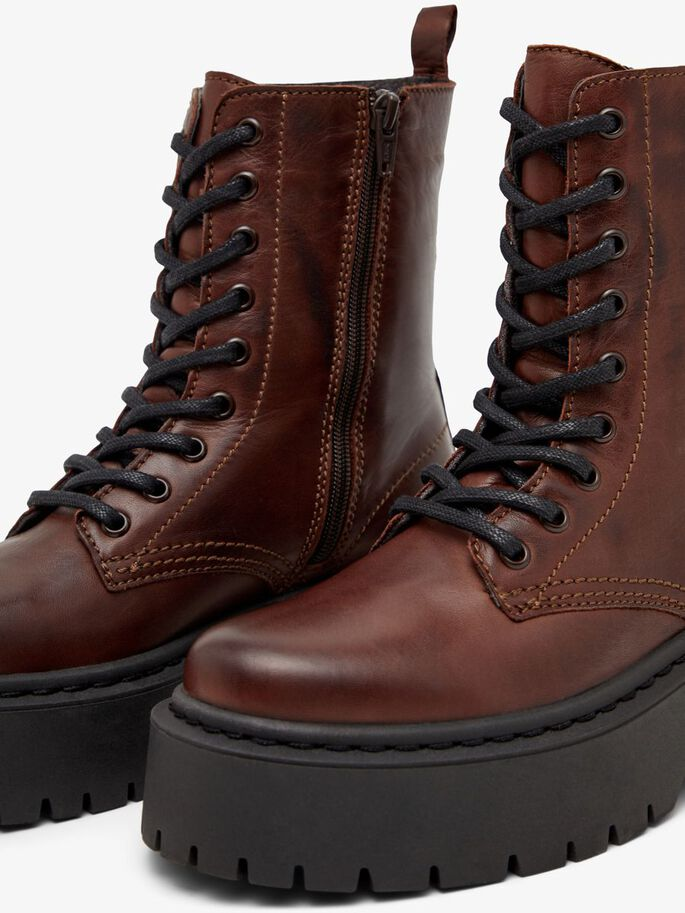 BIADEB LACE-UP BOOTS, DarkBrown, large