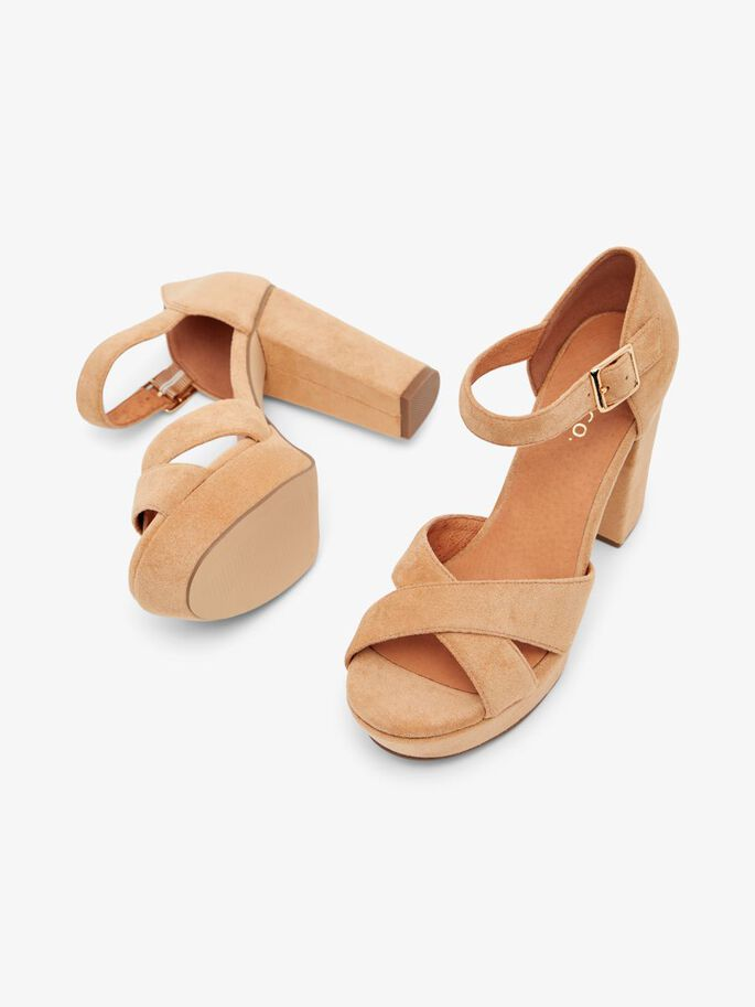 BIACARLY PLATEAU SANDALS, Camel1, large