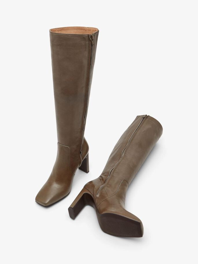 BIADELOIS LONG BOOTS, Stone, large