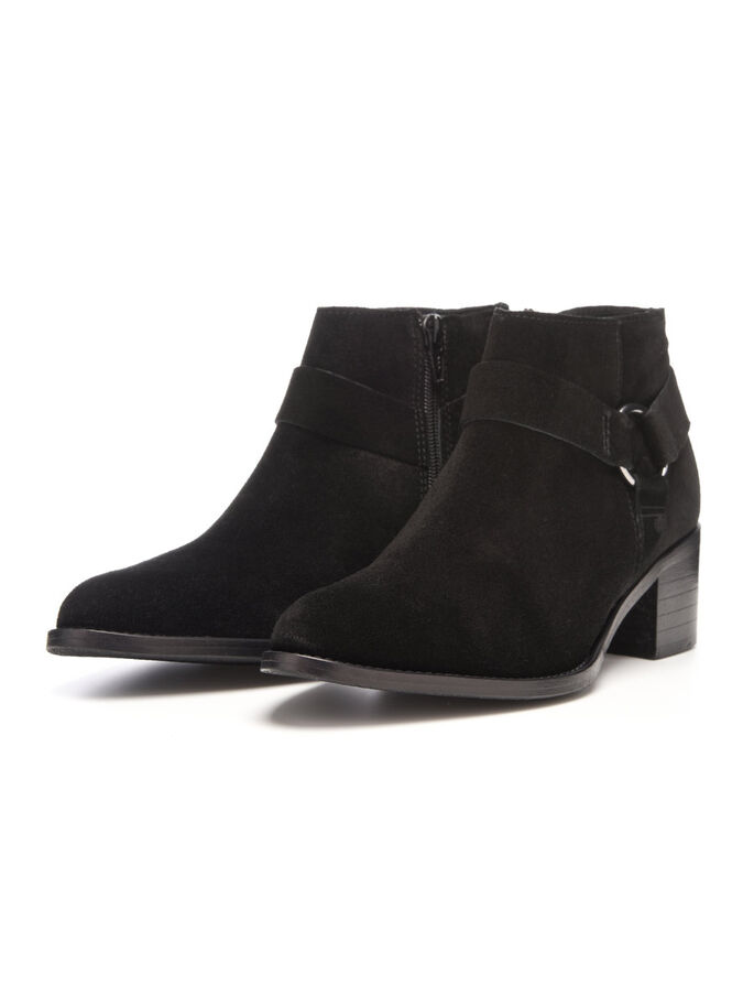 WESTERN LOW CUT BOOTS, Black, large