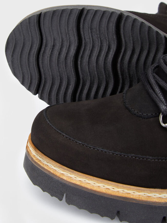 CLEATED WARM BOOTS, Black, large