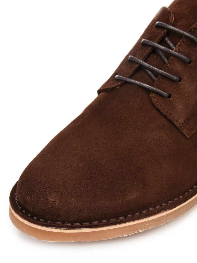 MEN'S SUEDE LACED UP, Dark Brown, large