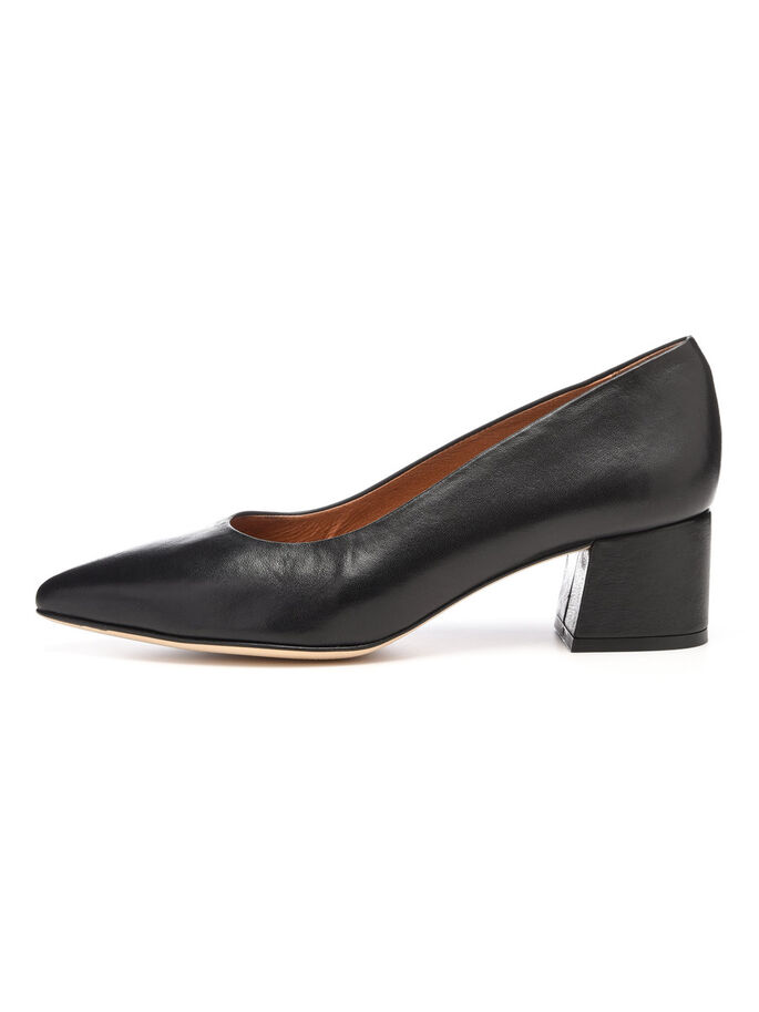 COURT PUMPS, Black, large