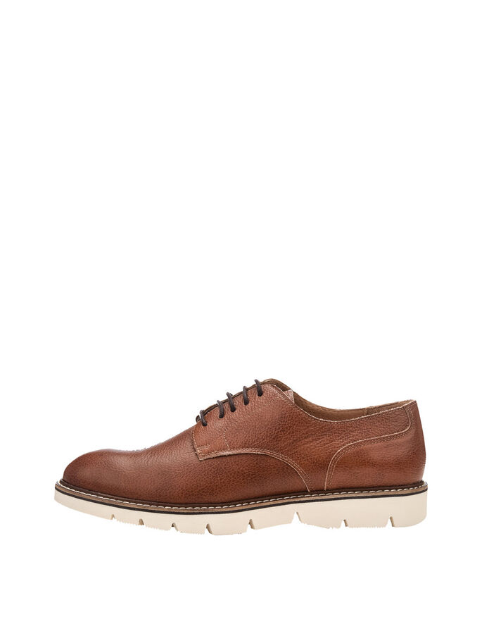 MEN'S CLEATED DERBY SHOES, Light Brown, large