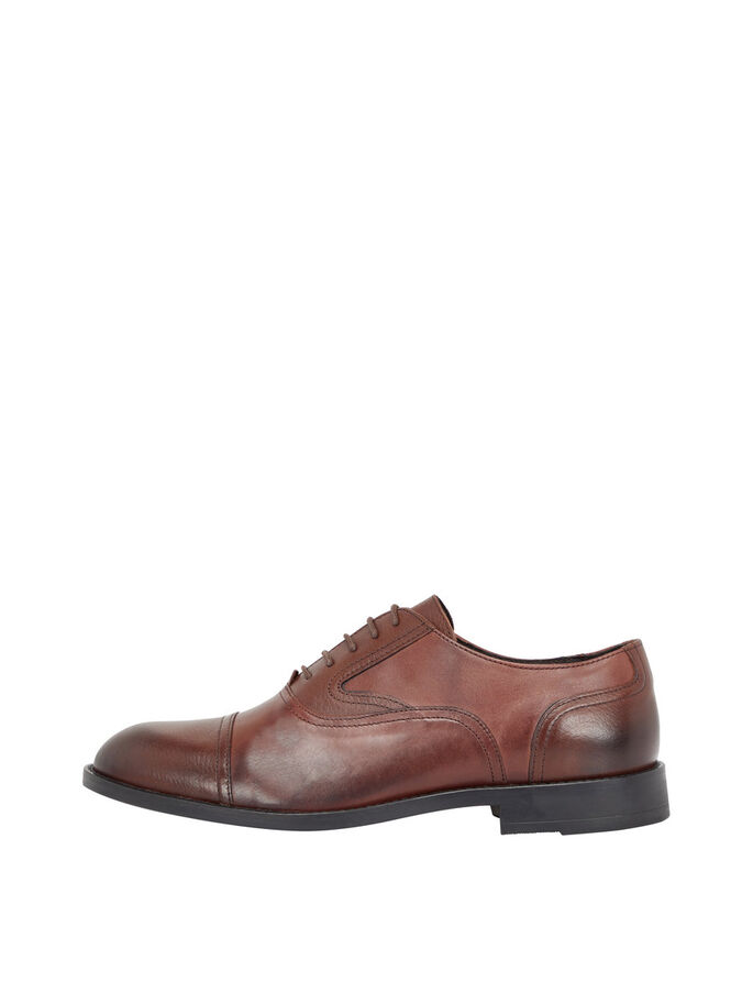 NETTE DERBY HEREN SCHOENEN, Dark Brown, large