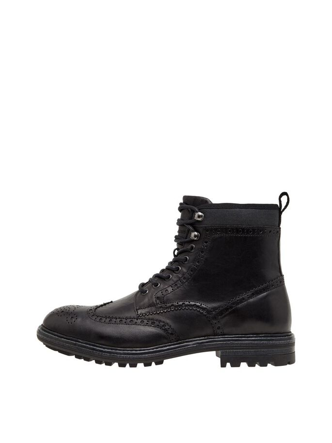 BIADELVIN LACE-UP BOOTS, Black, large