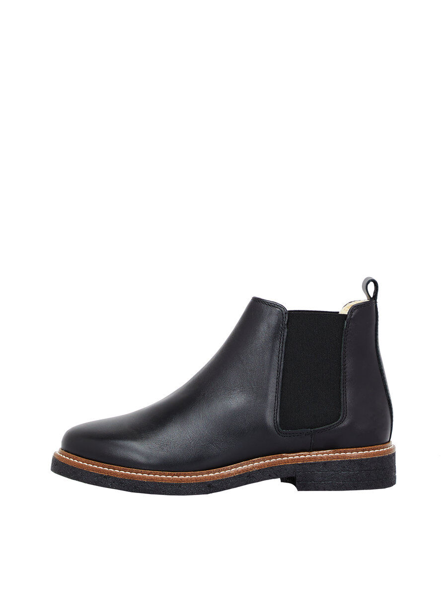 WARM CLEAN CHELSEA BOOTS, Black, large