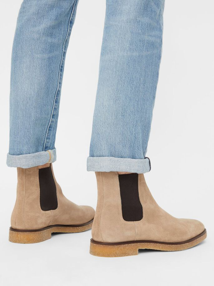 BIADINO BOTTINES CHELSEA, Beige1, large