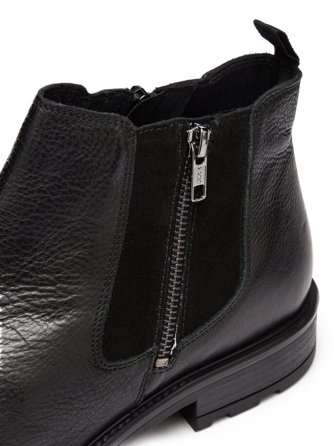 ZIP BOOTS, Black, large