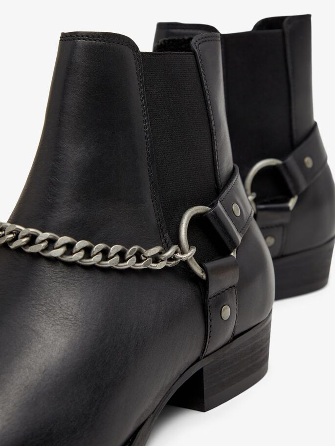 BIABECK CHAIN CHELSEA BOOTS, Black6, large