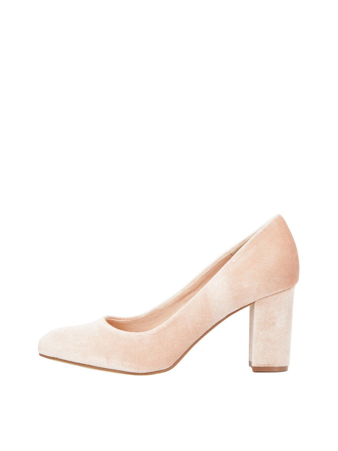 VELVET PUMPS, Rose, large