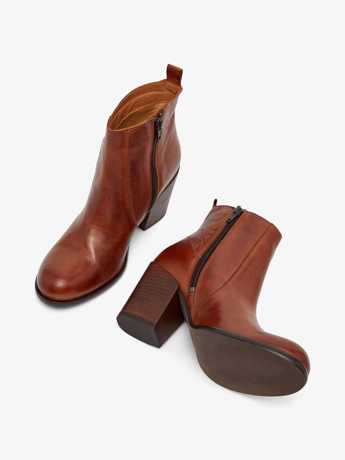 BIADELMA ANKLE BOOTS, Cognac, large