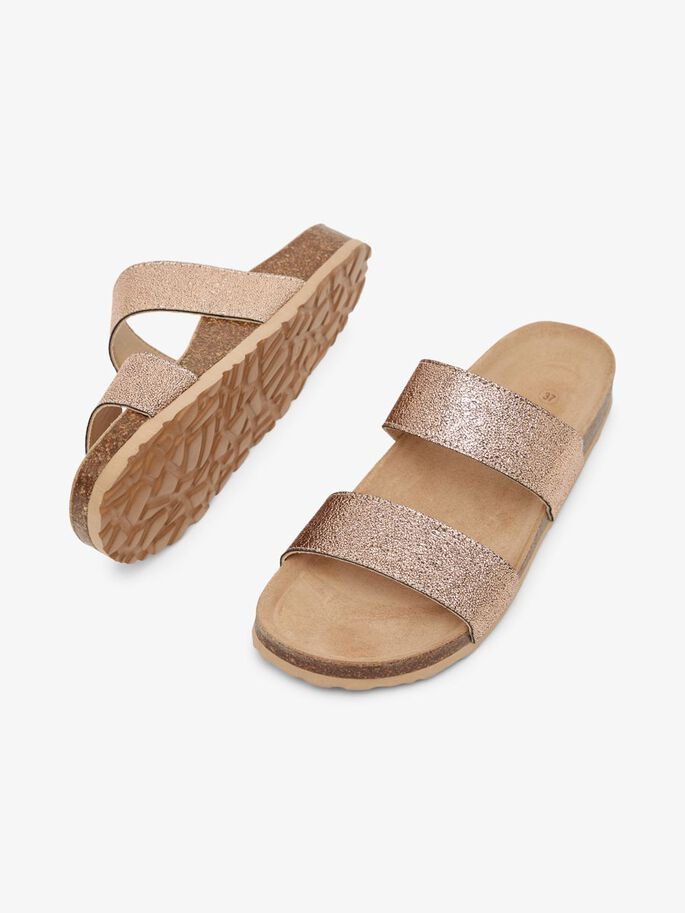 BIABETRICIA TWIN STRAP SANDALS, RoseGold5, large
