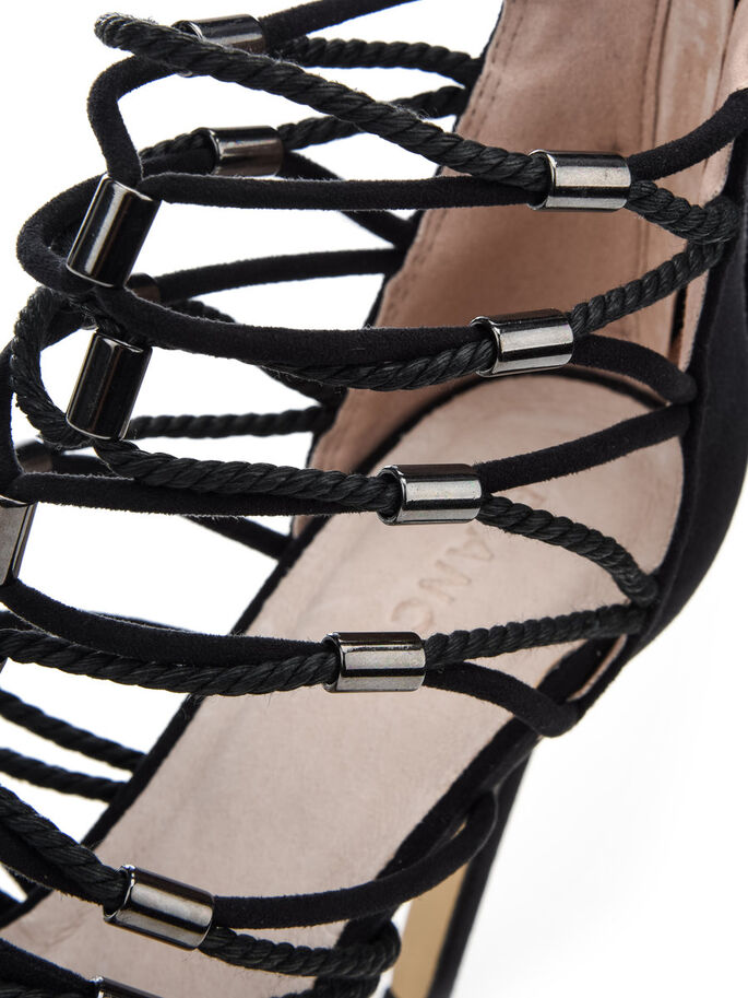 MULTI STRAP SANDALS, Black, large