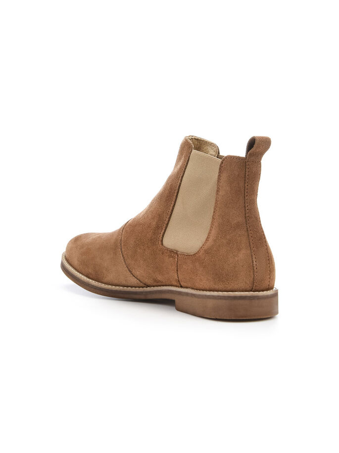 MEN'S CASUAL CHELSEA BOOTS, Camel, large