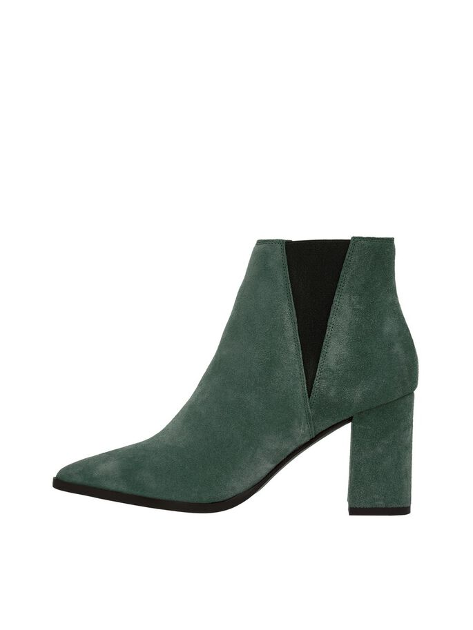 SUEDE POINTED CHELSEA BOOTS, Dark Green 1, large