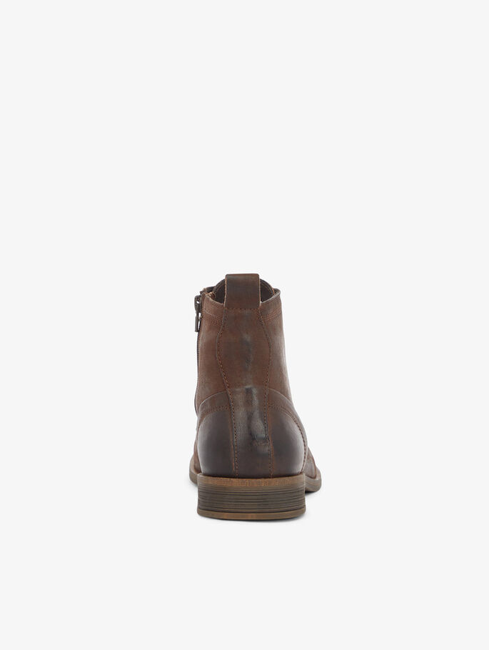 BIABYRON LACE-UP BOOTS, Dark Brown, large