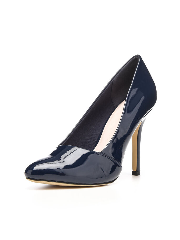 BASIC LOAFER PUMPS, Navy Blue, large