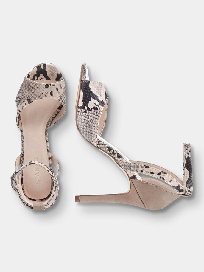 STILETTO SANDALS, Nougat, large