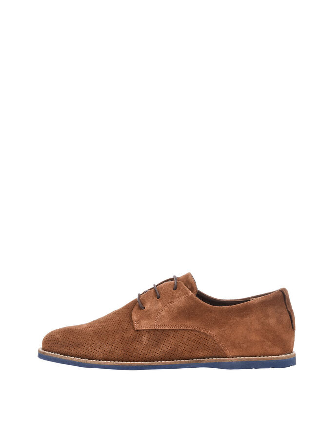 MEN'S SPRING SUEDE SHOES, Light Brown, large