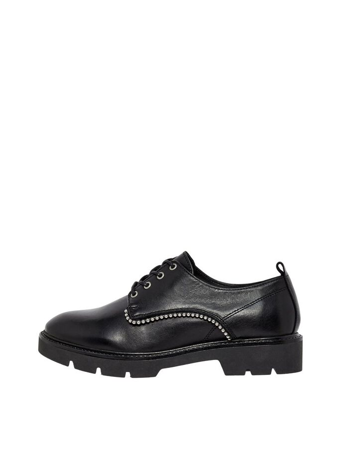 BIACALDER LEATHER DERBY SHOES, Black, large