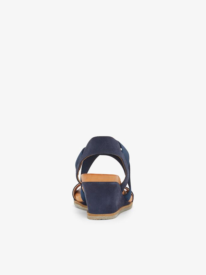 BIACAILY LEATHER CROSS SANDALS, NavyBlue1, large