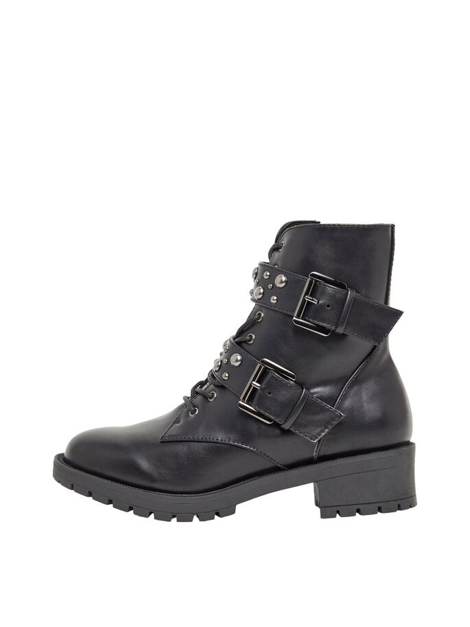 BIACLAIRE STUD BELT WIDE FIT BOOTS, Black, large