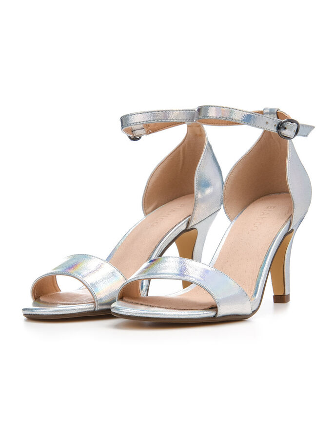 LOW BASIC SANDALS, Silver, large